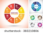 colourful business model... | Shutterstock .eps vector #383210806