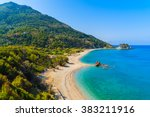 A View Of Potami Beach With...