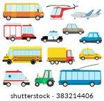 set of cartoon transport | Shutterstock . vector #383214406