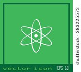 atom icon | Shutterstock .eps vector #383225572