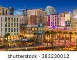 san diego  california cityscape ...   Shutterstock . vector #383230012