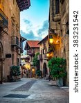 a street of medieval town in... | Shutterstock . vector #383231542