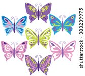 butterfly vector illustration | Shutterstock .eps vector #383239975