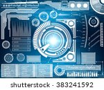 abstract future  concept vector ... | Shutterstock .eps vector #383241592