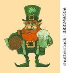 saint patrick's day leprechaun... | Shutterstock .eps vector #383246506