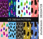 ice cream back pattern ice...   Shutterstock .eps vector #383264728