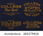 set of university and college... | Shutterstock .eps vector #383279818