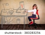 portrait of child businessman... | Shutterstock . vector #383283256