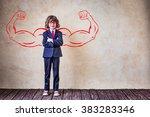 portrait of strong businessman... | Shutterstock . vector #383283346
