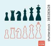 chess icon. chess figures...