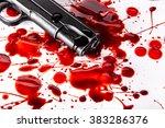 Murder Concept   Gun With Bloo...