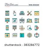 web design  coding  responsive  ... | Shutterstock .eps vector #383286772