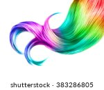 Multicolored Hair Isolated Ove...