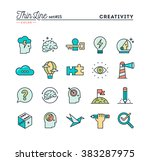 creativity  imagination ... | Shutterstock .eps vector #383287975