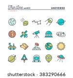 universe  celestial bodies ... | Shutterstock .eps vector #383290666