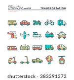 transportation and vehicles ... | Shutterstock .eps vector #383291272
