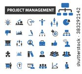 project management icons | Shutterstock .eps vector #383292142