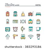 hotel  accommodation   room... | Shutterstock .eps vector #383293186