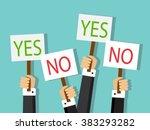 businesspeople hands carried... | Shutterstock .eps vector #383293282
