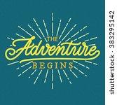 poster  hand lettering ... | Shutterstock .eps vector #383295142