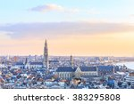 view over antwerp with... | Shutterstock . vector #383295808
