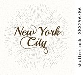vintage hand lettered textured... | Shutterstock .eps vector #383296786