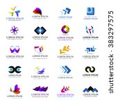 business icons set isolated on... | Shutterstock .eps vector #383297575