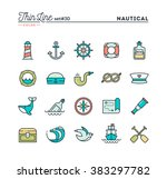 nautical  sailing  sea animals  ... | Shutterstock .eps vector #383297782