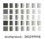 set of 35 square stipple... | Shutterstock .eps vector #383299948