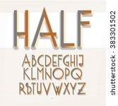 3d isometric retro alphabet ... | Shutterstock .eps vector #383301502