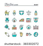 baby  pregnancy  birth  toys... | Shutterstock .eps vector #383302072