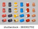 set of the metal  plastic and... | Shutterstock .eps vector #383302702