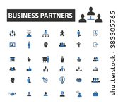 business partners icons | Shutterstock .eps vector #383305765
