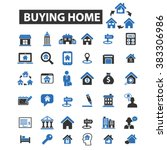 buying home icons | Shutterstock .eps vector #383306986