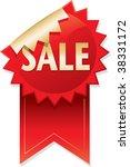 sale sticker ribbon | Shutterstock .eps vector #38331172