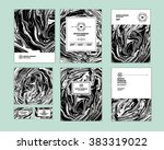 vector set ink texture ...