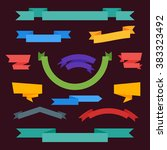 ribbon isolated vector in flat... | Shutterstock .eps vector #383323492