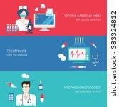 doctor nurse medical care staff ... | Shutterstock .eps vector #383324812