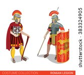 roman empire legion warrior... | Shutterstock .eps vector #383324905