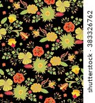 seamless vector floral pattern... | Shutterstock .eps vector #383326762