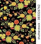 seamless floral pattern   Shutterstock .eps vector #383326762