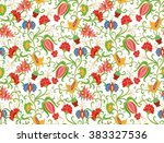 seamless floral pattern | Shutterstock .eps vector #383327536