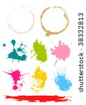 stains   Shutterstock .eps vector #38332813