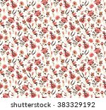 seamless floral pattern | Shutterstock .eps vector #383329192