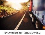 transport truck   Shutterstock . vector #383329462