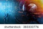world map abstract concept | Shutterstock . vector #383333776