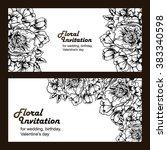 vintage delicate invitation...   Shutterstock .eps vector #383340598