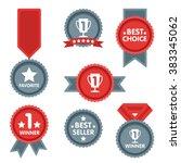 award icon collection vector... | Shutterstock .eps vector #383345062