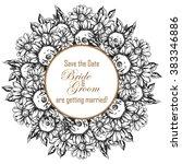 romantic invitation. wedding ... | Shutterstock . vector #383346886