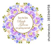romantic invitation. wedding ... | Shutterstock . vector #383346958